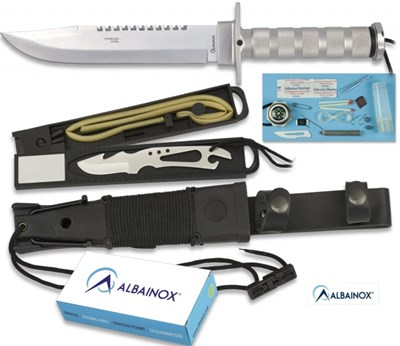 Deluxe Silver Survival Knife
