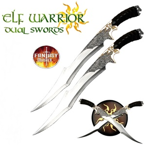 Elf Twin Swords and Plaque