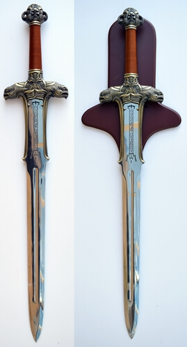 Conan Sword and Plaque