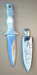 Silver Boot Knife